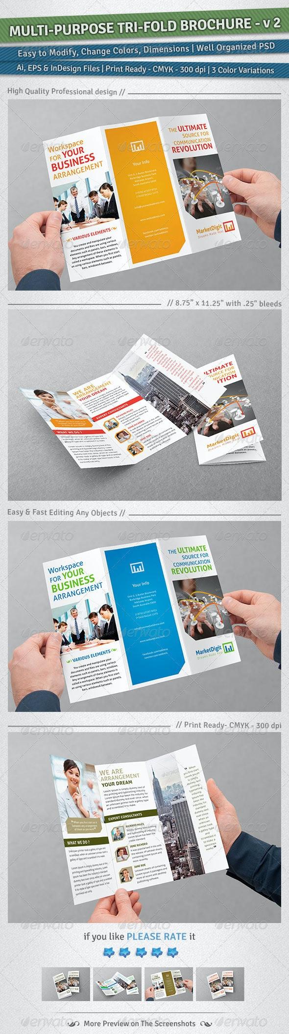 Multi-Purpose Tri-Fold Brochure | Volume 2 - Corporate Brochures
