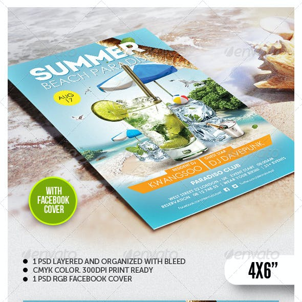 Summer Beach Paradise Flyer Template