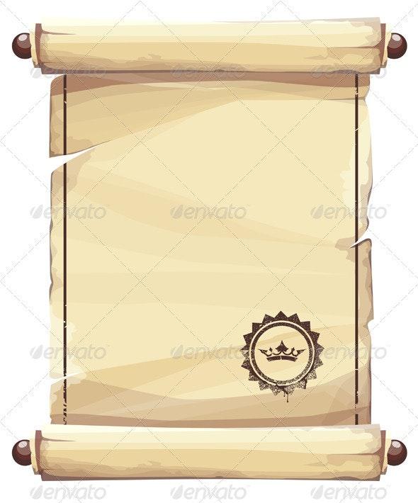 Grungy parchment background - Backgrounds Decorative