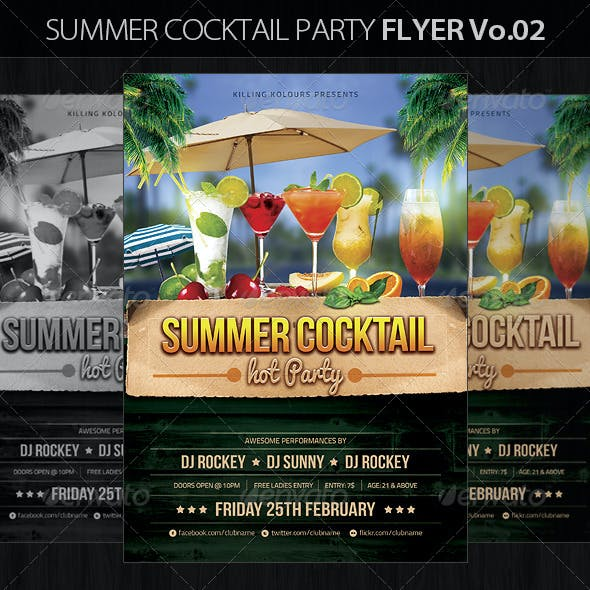 Summer Cocktail Party Flyer Vo.2