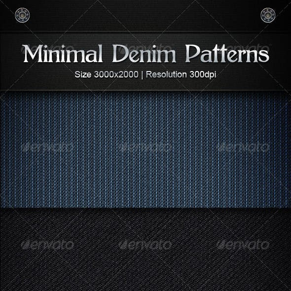 Minimal Denim Patterns