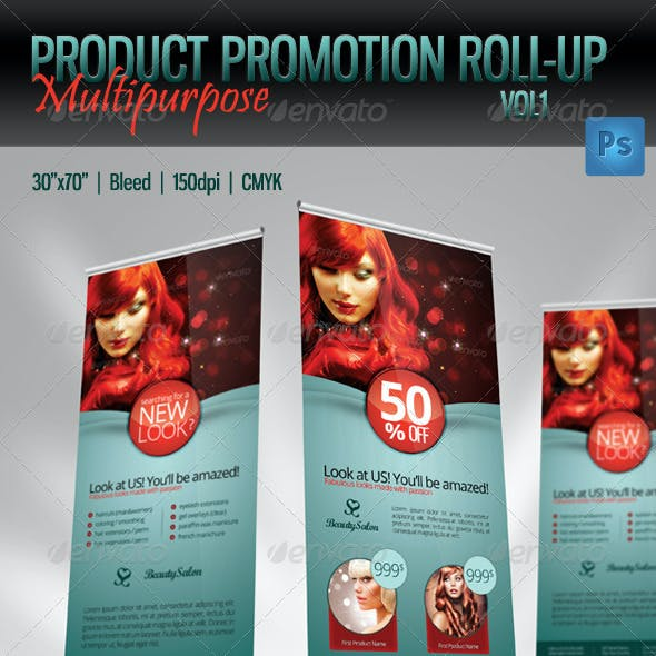 Product Promotion Roll-Up Template – Multipurpose
