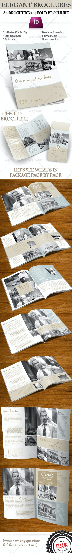 Elegant brochure (A4 + 3-fold) InDesign templates - Corporate Brochures