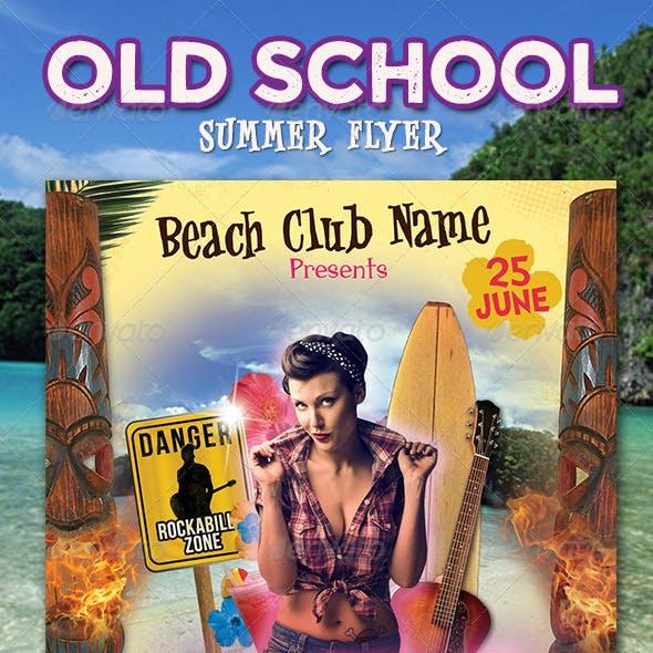 Old School Summer Flyer Template