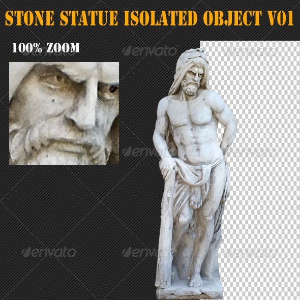 Stone Statue Isolated Object V01