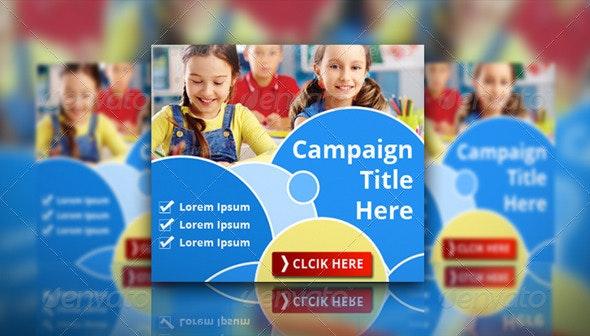 Education Banner Set - Banners & Ads Web Elements