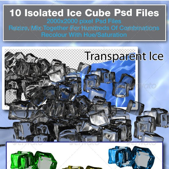 3d Rendered Ice Cubes
