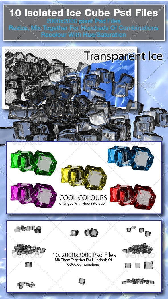 3d Rendered Ice Cubes - Objects 3D Renders