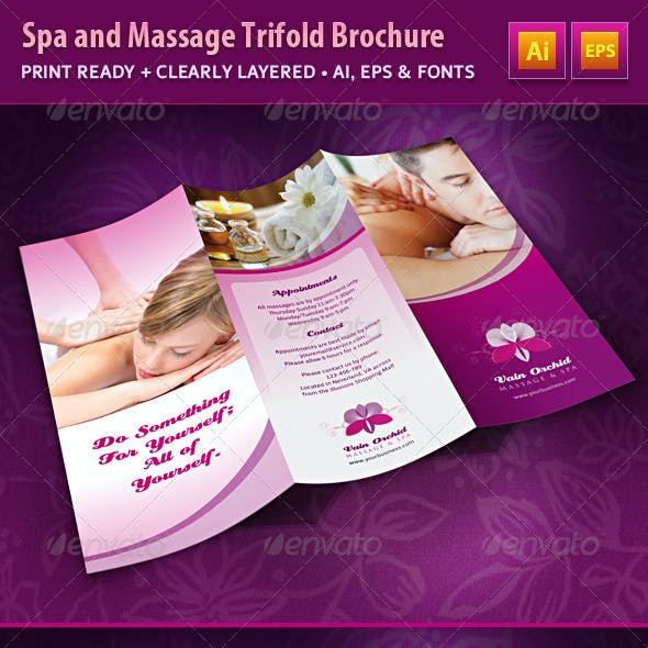 Spa and Massage Business Trifold Brochure