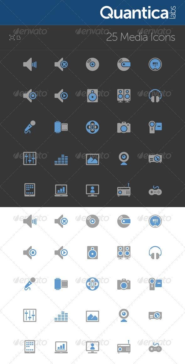 25 Media Icons - Media Icons