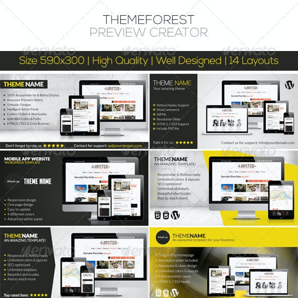 ThemeForest Preview Creator