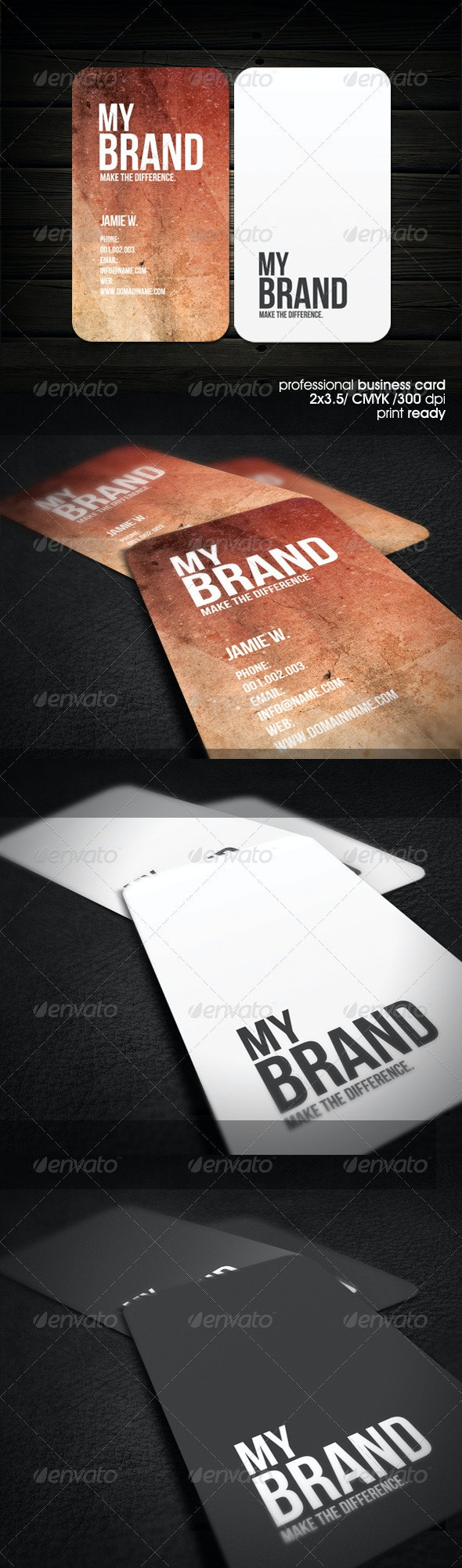 Modern&Urban Business Card - Grunge Business Cards
