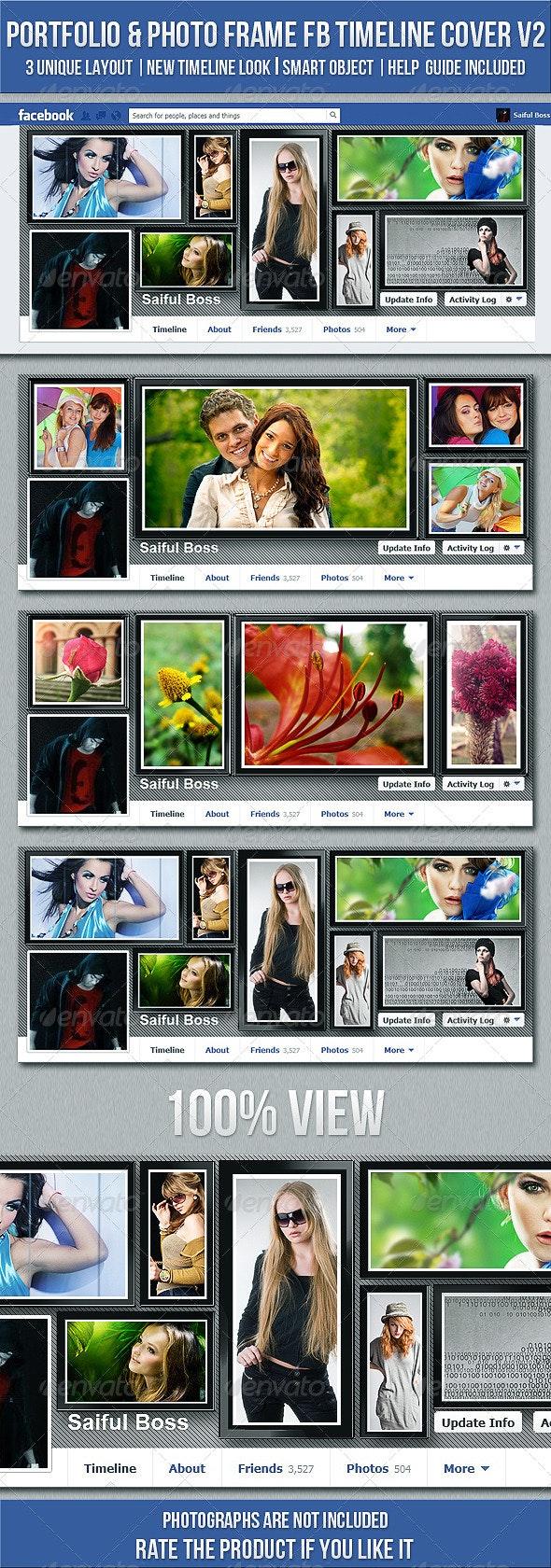 Portfolio & Photo Frame Facebook Timeline Cover V2 - Facebook Timeline Covers Social Media