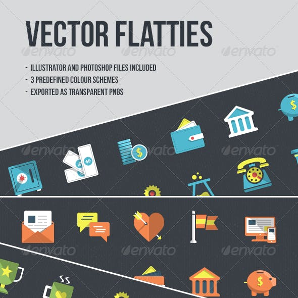 24 Vector Flatties