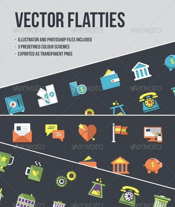 24 Vector Flatties