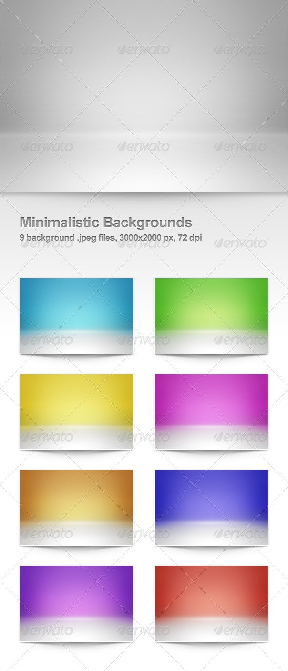 9 Minimalistic Backgrounds - Backgrounds Graphics