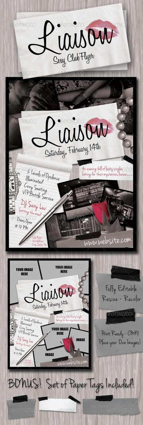 Liaison Flyer Template - Clubs & Parties Events