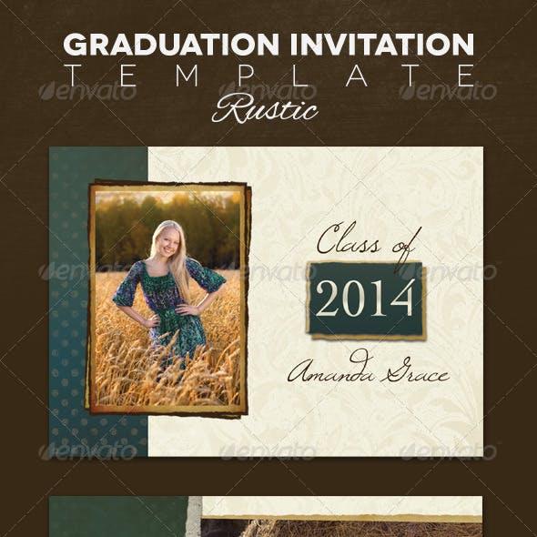 Graduation Announcement - Rustic