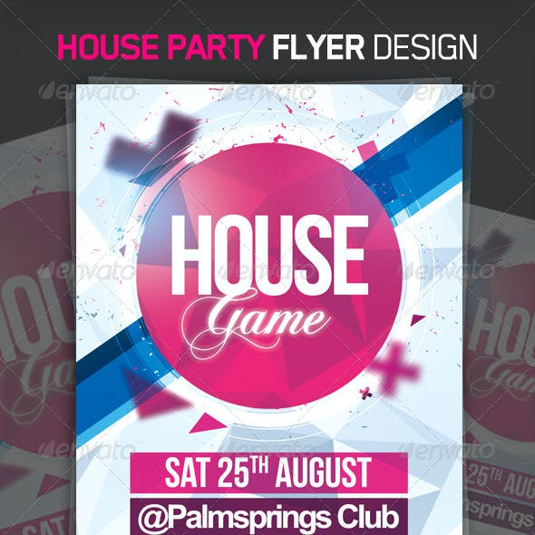 House Game Party Flyer