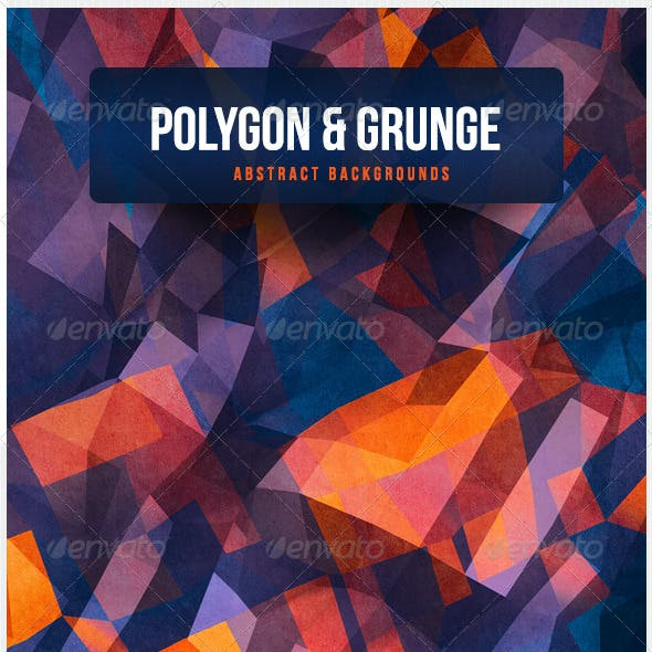 Polygon & Grunge Abstract Backgrounds