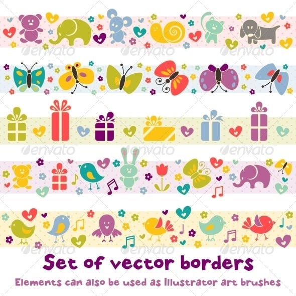Borders with Baby Icons.