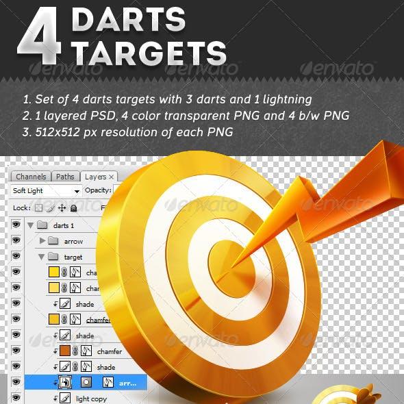 4 Darts Targets