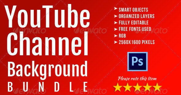 Corporate YouTube Background Template Bundle - YouTube Social Media