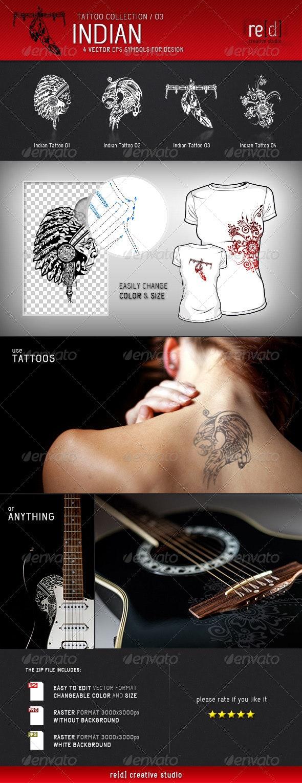 Indian Tattoo Symbols - Tattoos Vectors