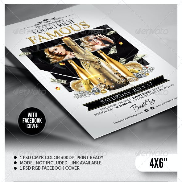Young Rich And Famous Flyer Template