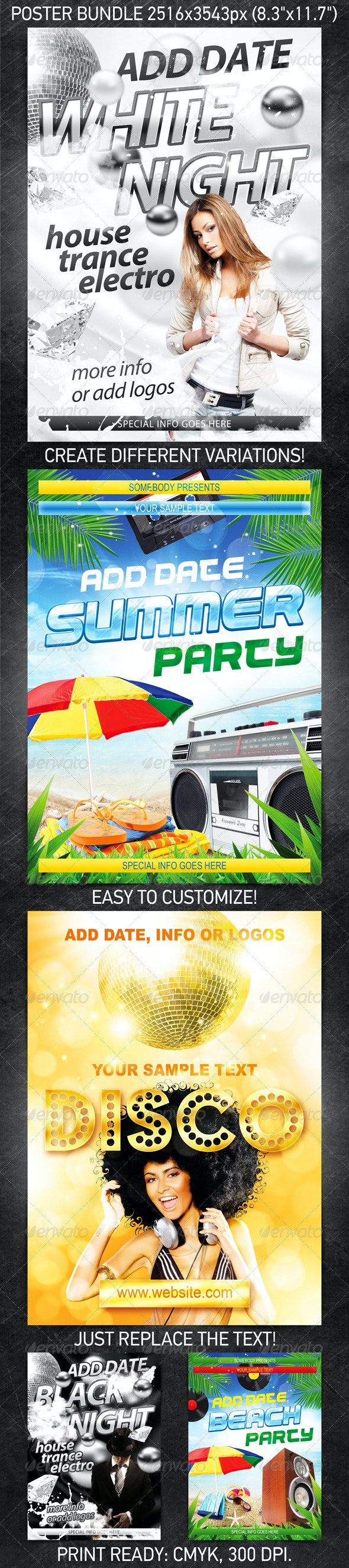 Event Poster Set - Clubs & Parties Events