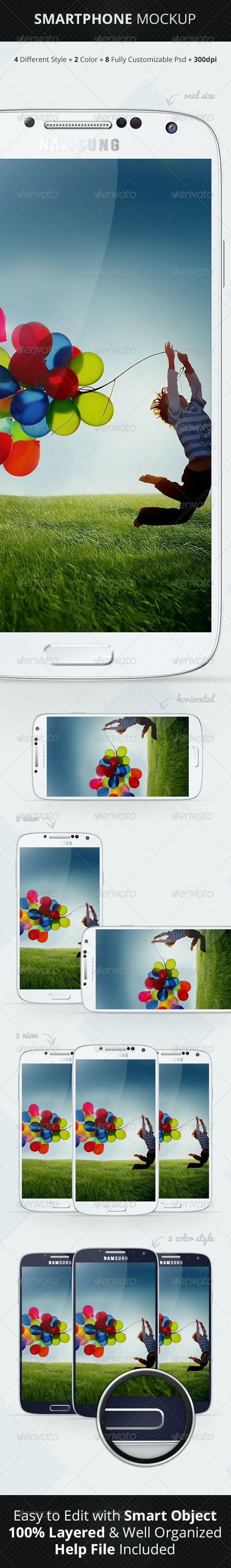 Smartphone Mockup - Mobile Displays
