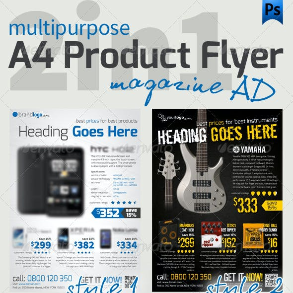 Product A4 Flyer
