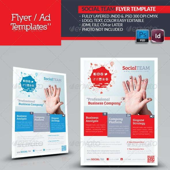 Social Team Flyer Template