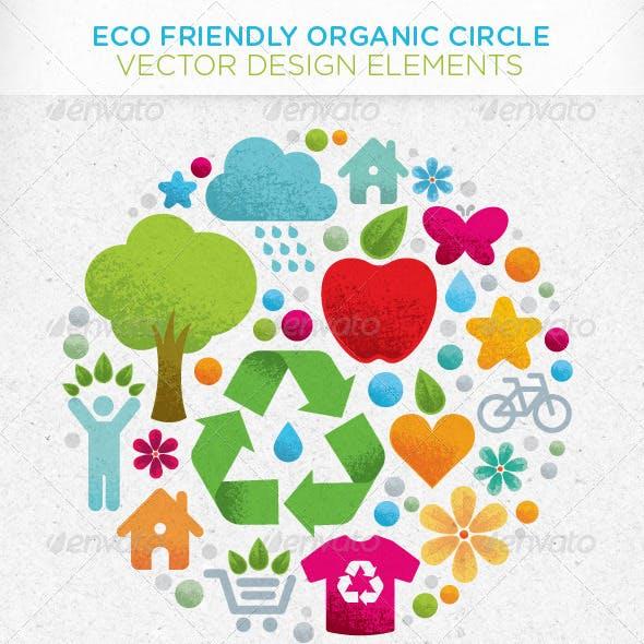 Eco Friendly Organic Circle Vector Design Elements