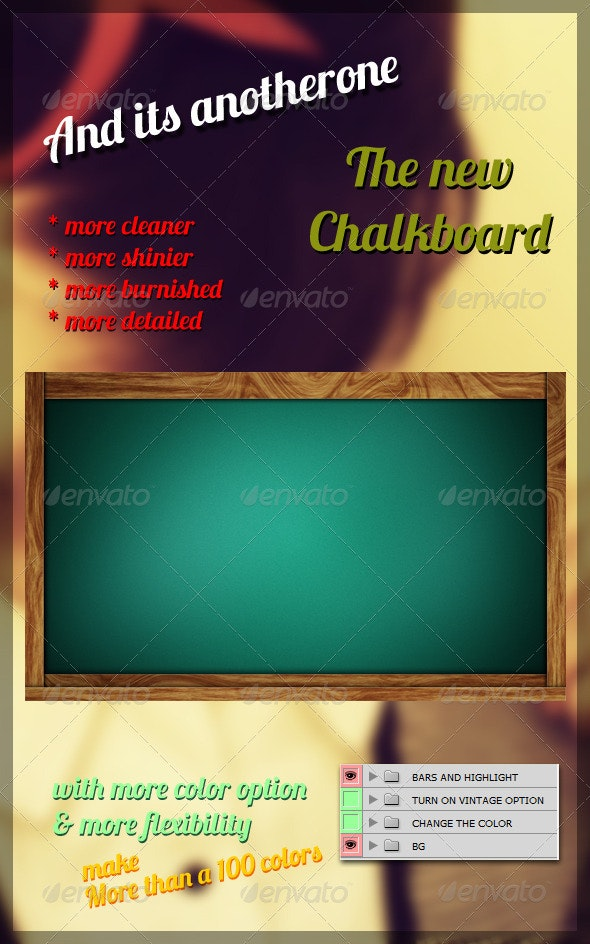 The New Chalkboard - Backgrounds Graphics