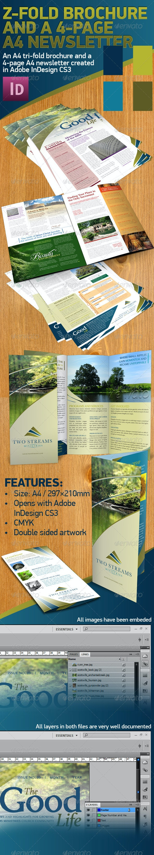 Tri-fold A4 Brochure and a 4-page A4 Newsletter - Corporate Brochures