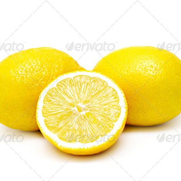 Three lemons isolated