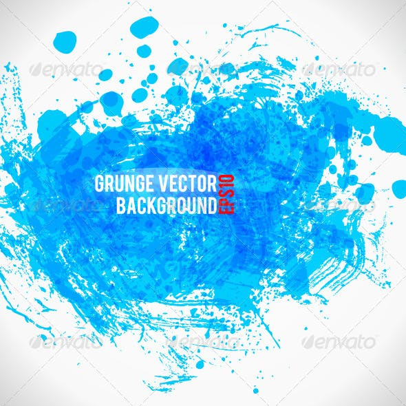Color Paint Splashes Grunge Background