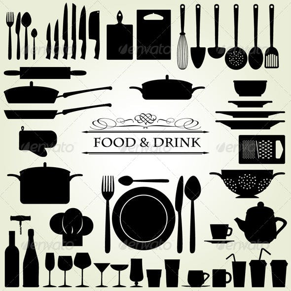 Food & Drink - Restaurant & Kitchen Icons