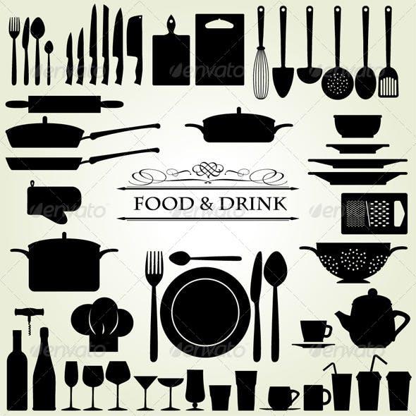 Food & Drink - Restaurant & Kitchen Icons