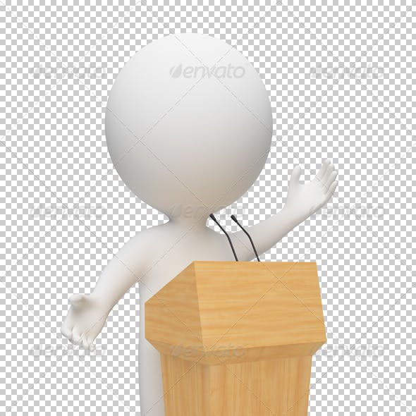 3d small people - orator