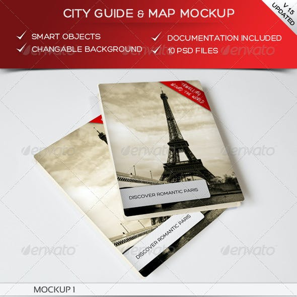 City Guide & Map Mockup