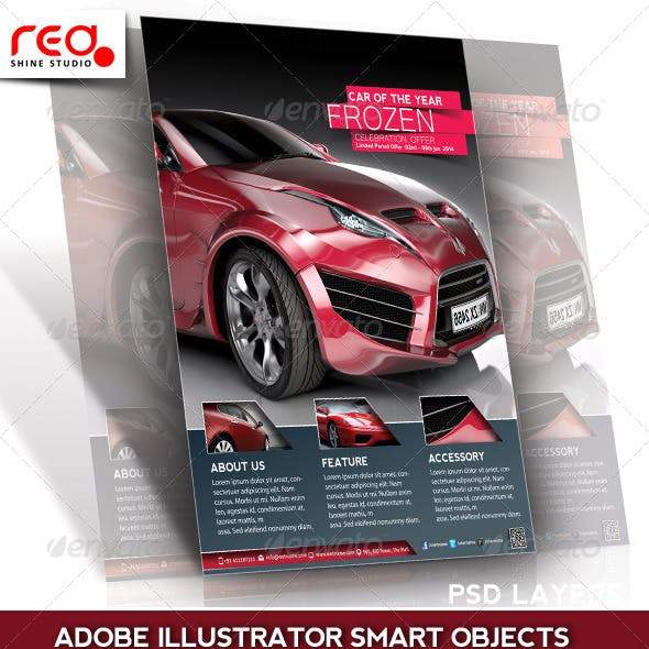 Car Promotion Flyer, Poster & Magazine Template