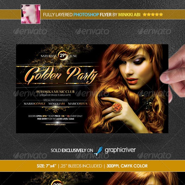 Golden Party Poster/Flyer