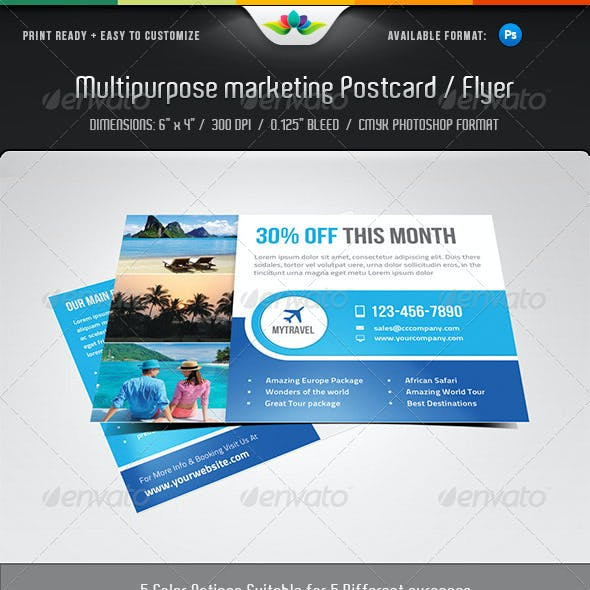 Multipurpose Marketing Postcard / Flyer Template