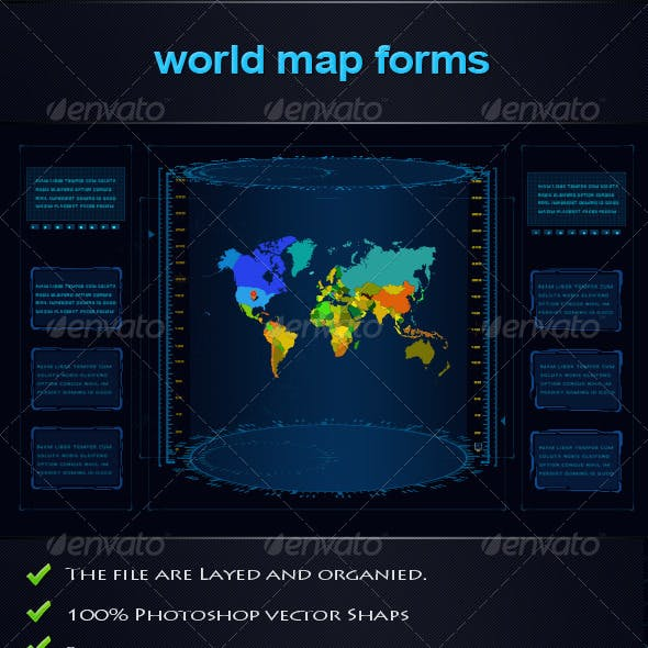 World Map Forms