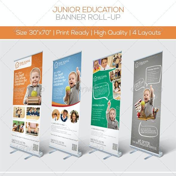 Premium Junior Education Banner Roll-up