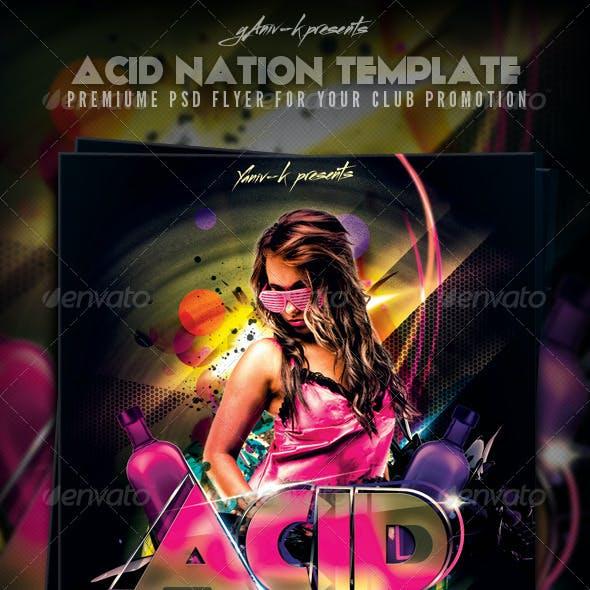 Acid Nation Flyer Template