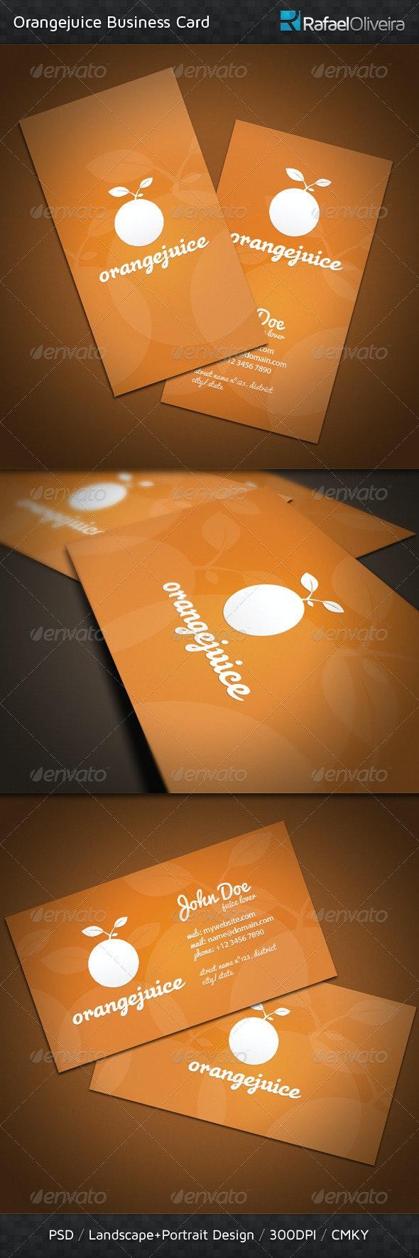 Orangejuice Business Card - Corporate Business Cards