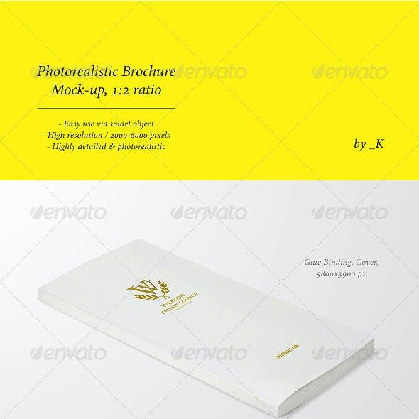 Photorealistic Brochure / Book Mock-Up, 1:2 ratio
